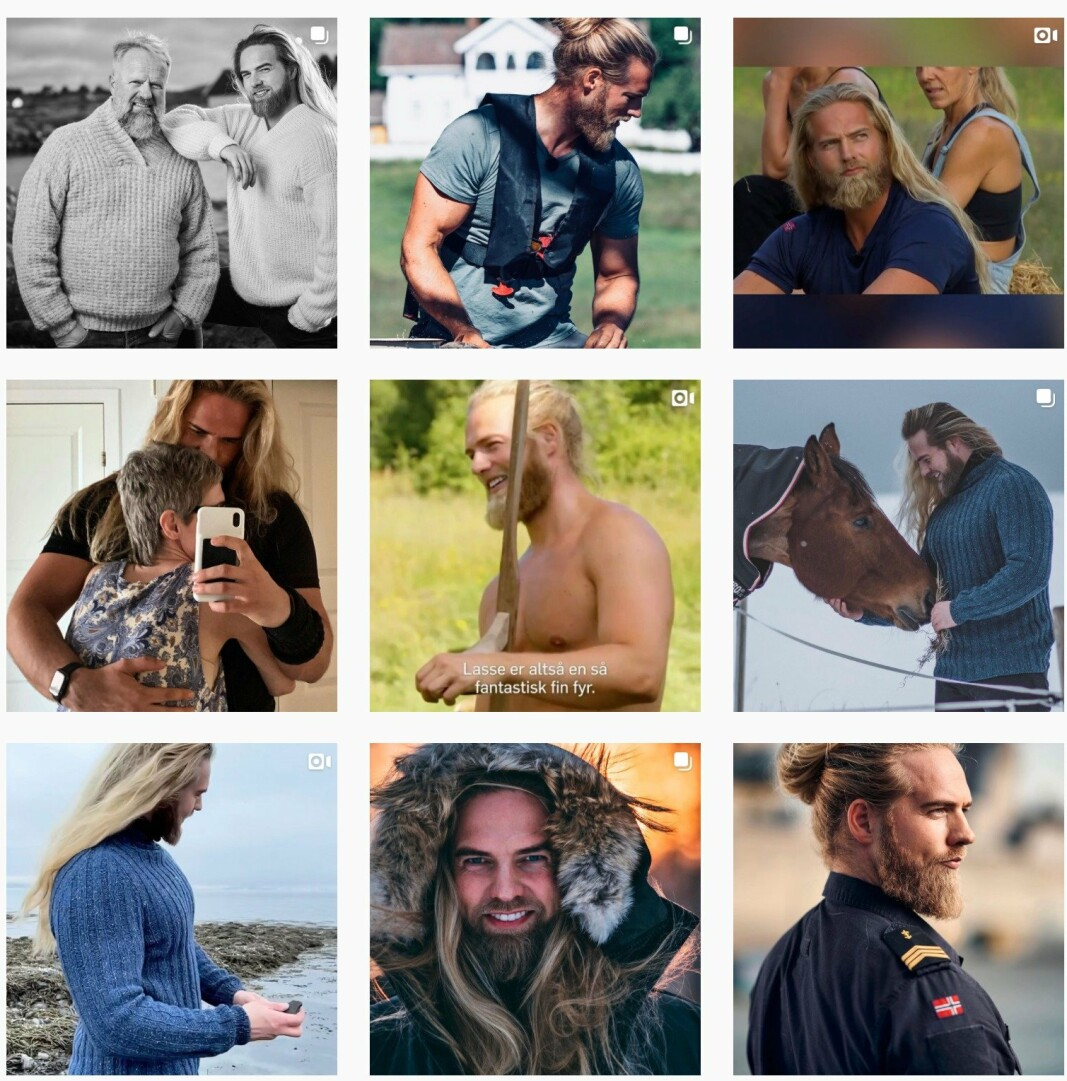 INSTA-KJENDIS: Lasse Løkken Matberg er kjent for bildene på sin egen instagramprofil.