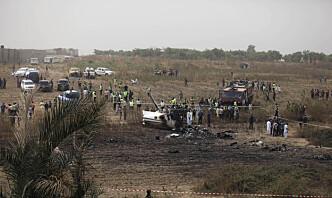 Sju omkom da militærfly styrtet i Nigeria