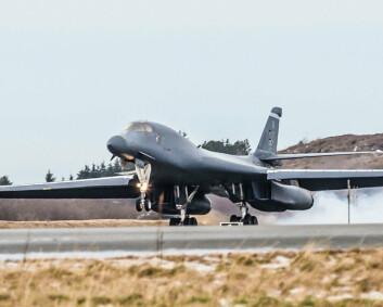 Amerikanske bombefly har landet i Norge