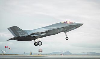 F-35 har landet på Island