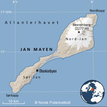 Jan Mayen ligger 550 kilometer nordøst for Island og omtrent 1000 kilometer unna fastlands-Norge.