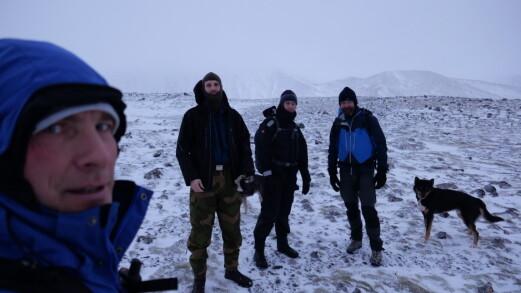 Fra en tidligere topptur på Jan Mayen. Fra venstre: Kai Vikra, Robin Karlsen, Kristian Tømmervåg og Bjørn André Stølen.