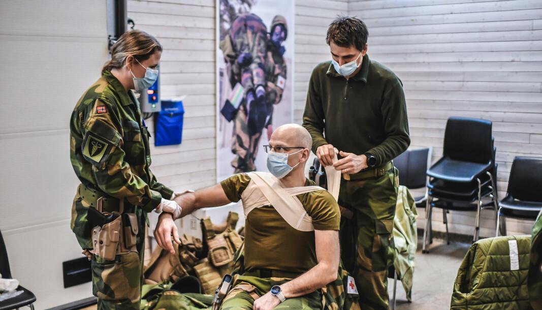OPPLÆRING: Personell fra Forsvarets sanitet (FSAN) reiser til Afghanistan i mars 2021. Der skal de erstatte nordmennene på feltsykehuset i Kabul.