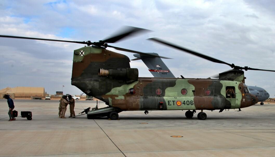 MISSILANGREP: Amerikanske soldater på al-Asad-basen i Irak.