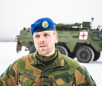 Sjefssersjant Michel Johan Markx i kompani 3, sanitetsbataljonen.