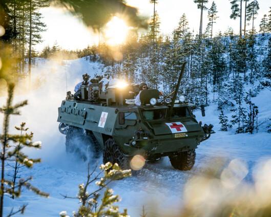 Sanitetsbataljonen har mottatt 16 nye pansrede ambulanser