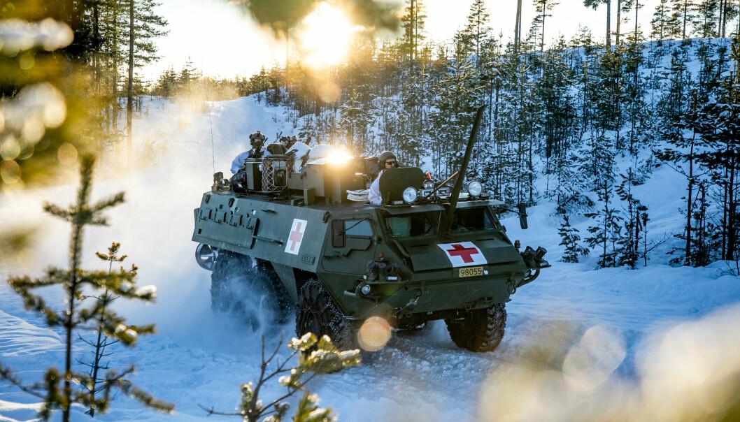 AMBULANSE: Sanitetsbataljonen har tatt i bruk Patria Pasi XA-203N som skal erstatte Sisu som pansret ambulanse.