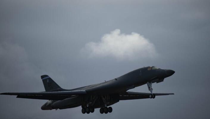 I NORGE: De amerikanske flyene skal være i Norge i en måneds tid.