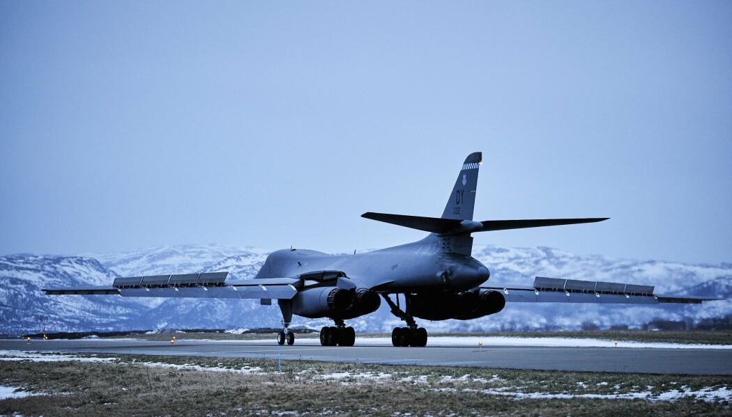 USA opererer ikke inn og ut ifra Norge med ubåter, marinesoldater, strategiske bombefly og maritime patruljefly uten tillatelse, skriver Tormod Heier. Her ser vi B-1B «Lancer» bombefly på Ørland flystasjon.