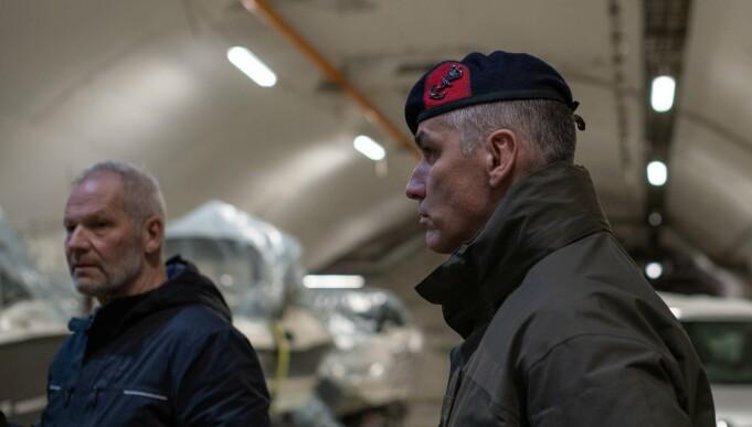 Geir Bentzen and Lieutenant Colonel Frank Ramakers. Bentzen was the last commanding officer at Olavsvern.