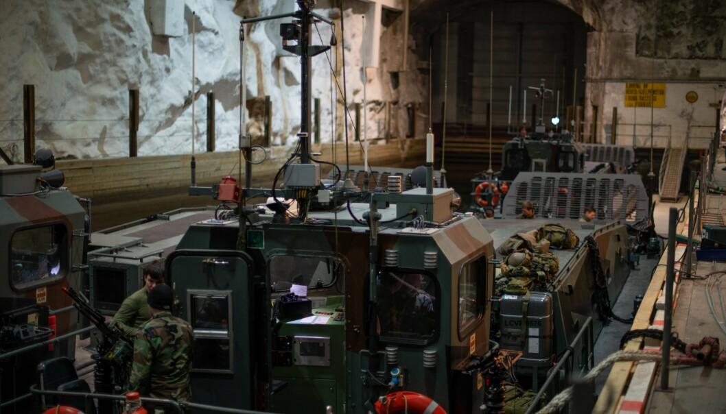 Nederlandske styrker trener på amfibieoperasjoner og krigføring under arktiske forhold fra marinebasen Olavsvern.