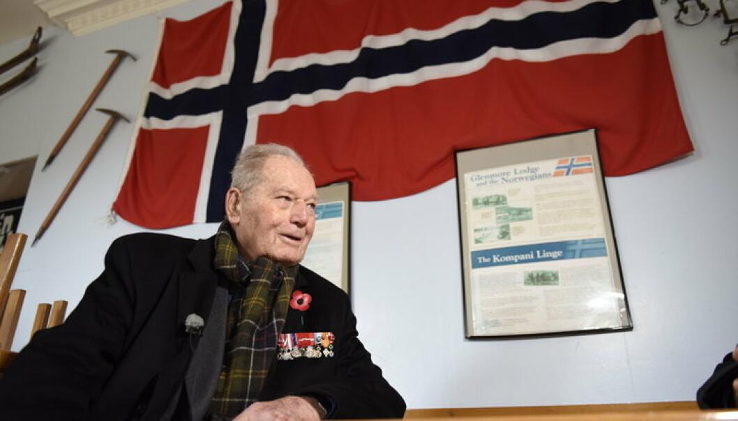 Erling Lorentzen i Skottland i 2016, der han hedret soldatene fra Kompani Linge.