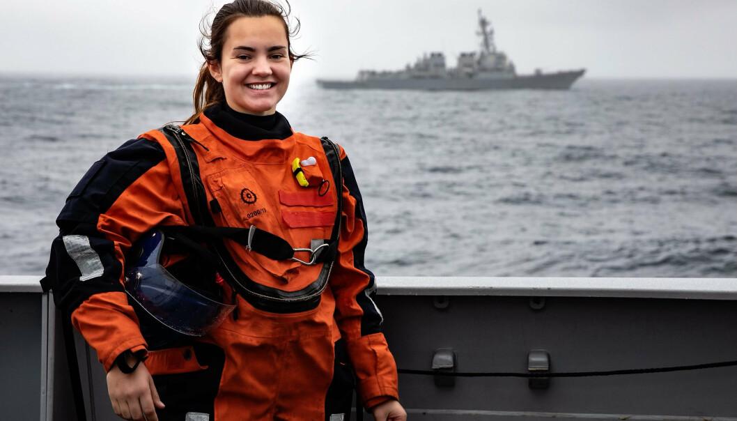 Gesine Stoltenberg Graham er hovedtillitsvalgt i Sjøforsvaret.