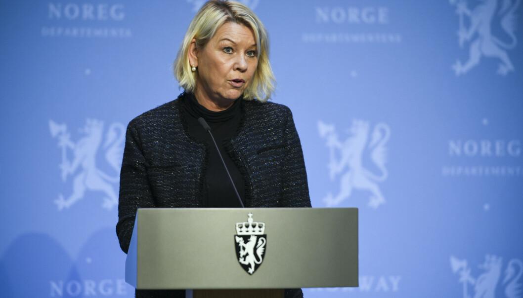 KAN STANSE: Justis- og beredskapsminister Monica Mæland (H) åpner for å bruke sikkerhetsloven for å stanse salget av Bergen Engines til russiske interesser.