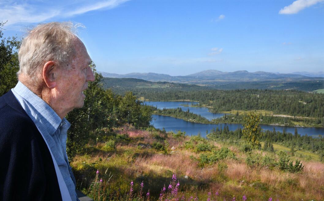 TILBAKE: Erling Lorentzen tilbake i Hallingdal der han under 2. verdskrig vart betre kjend under dekk-namnet «Arnfinn».