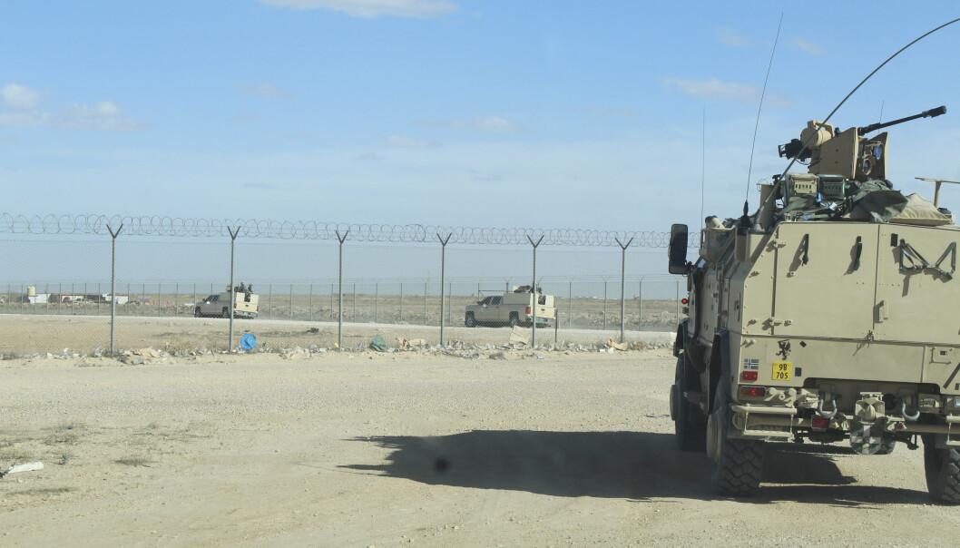 Norske styrker er utstasjonert ved Ain al-Asad-flybasen i Anbar-provinsen i Vest-Irak, rundt 200 kilometer fra grensa til Syria.