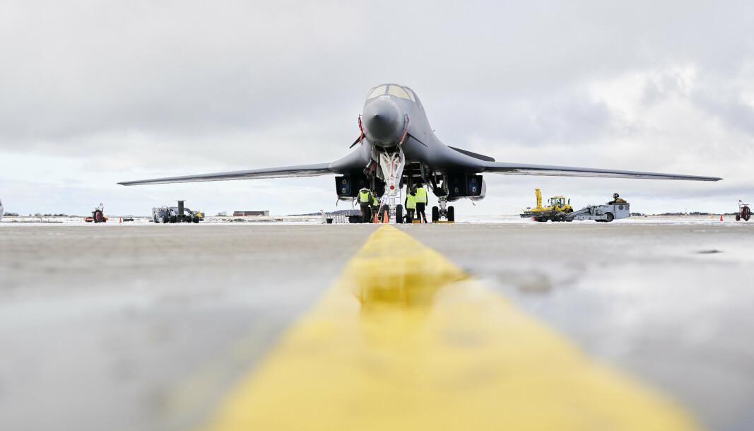 OPPGRADERT: Flyet har vært operativt siden 1986 og er oppgradert for å kunne holdes i drift til minimum 2040. Amerikanerne har 62 fly som opererer fra baser i Texas og Sør-Dakota.