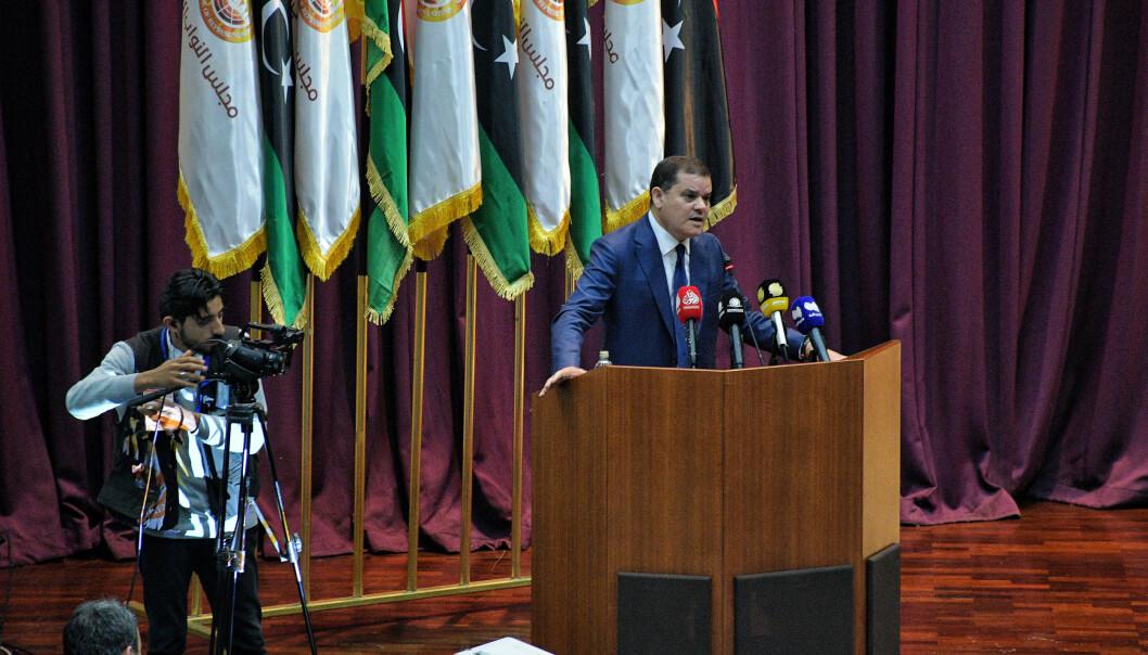 Abdul Hamid Dbeibah har fått oppgaven med å lede Libyas midlertidig regjering. Sikkerhetsrådet i FN ber alle parter respektere våpenembargoen og hente ut alle leiesoldater fra det krigsherjede landet.