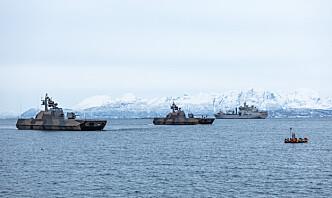 Sjøforsvaret øver i Nord-Norge sammen med utenlandske styrker
