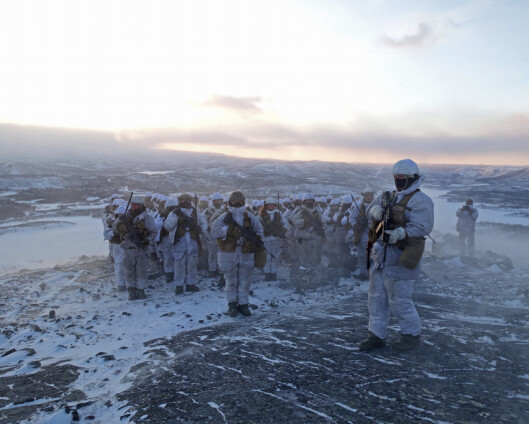 Se bildene av HV-17s vintertrening