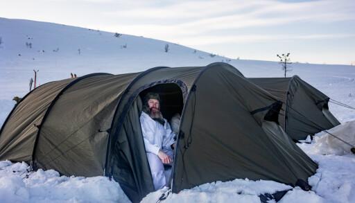 TELT: Det anskaffes nye telt, som skal erstatte 7-duker. Her fra et vinterkurs i Sømådalen.