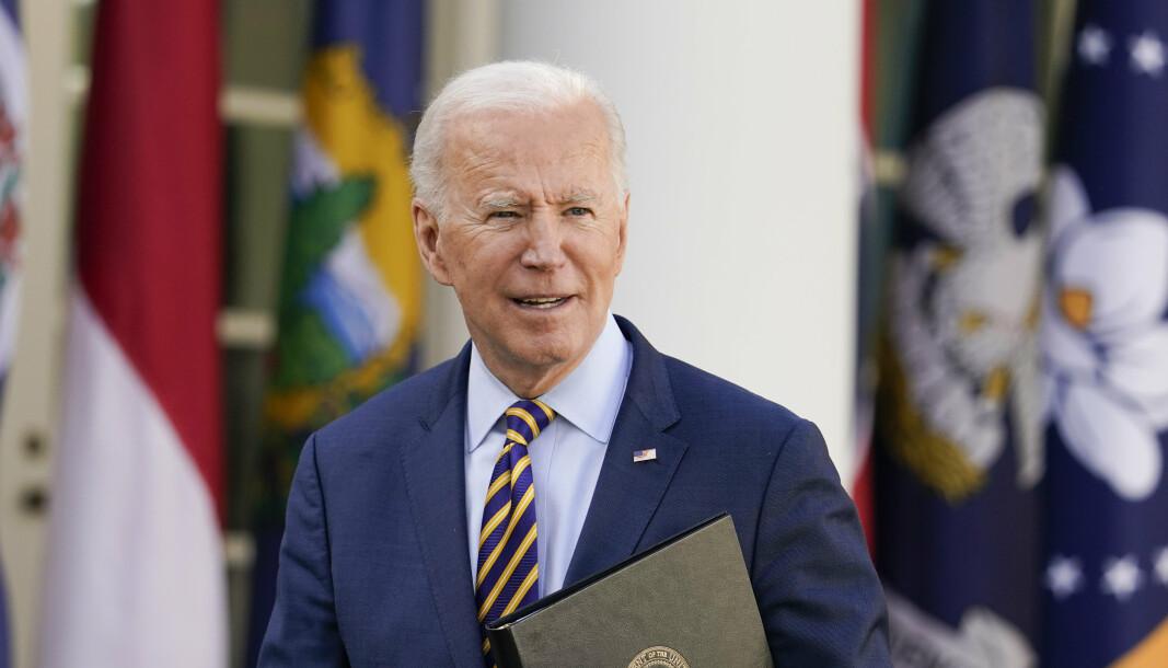 GIR GRØNT LYS: Joe Biden har godkjent videre våpensalg.