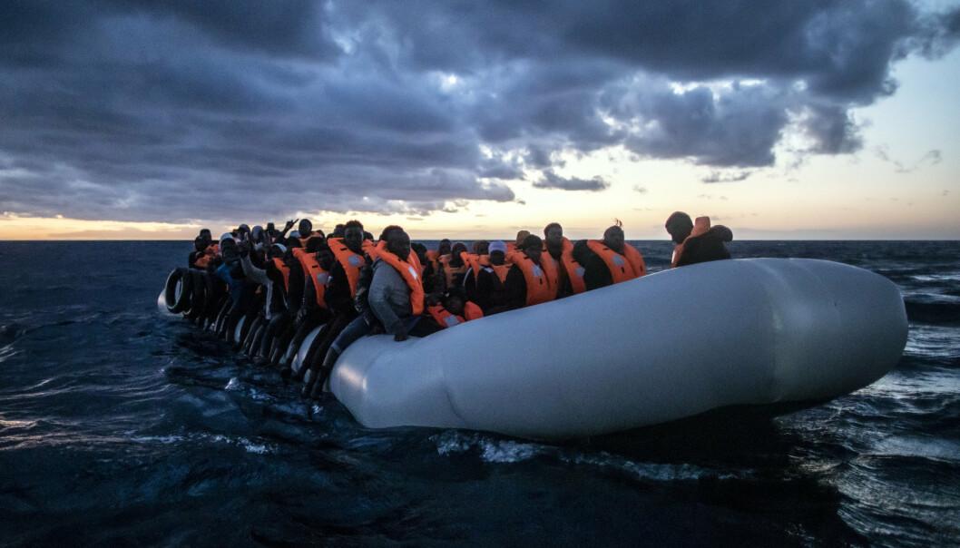 MIGRANTER: Libya er i dag et senter for menneskehandel og et brohode for flyktninger og migranter som forsøker å ta seg sjøveien til Europa.