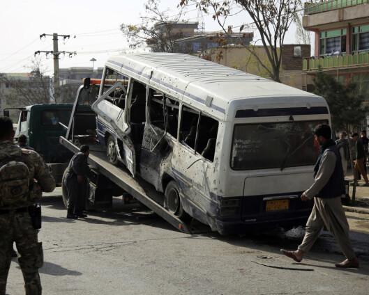 Minst tre drept i bombeangrep i Kabul