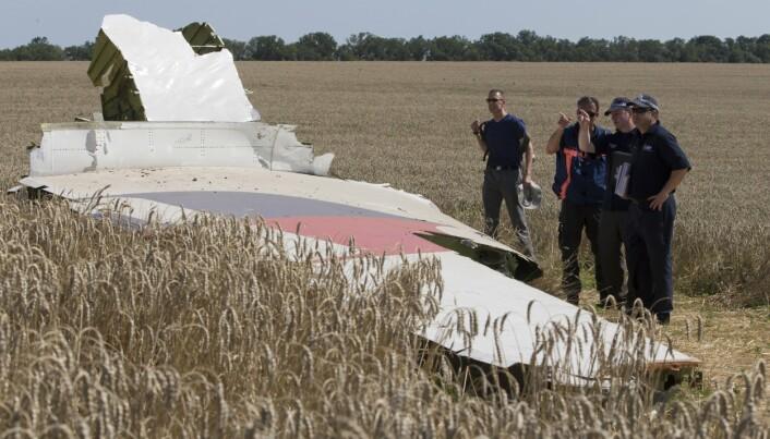 SKUTT NED: I 2014 ble et passasjerfly fra Malaysia Airlines skutt ned av russiskstøttete separatister i Donetsk. Alle 298 ombord døde.