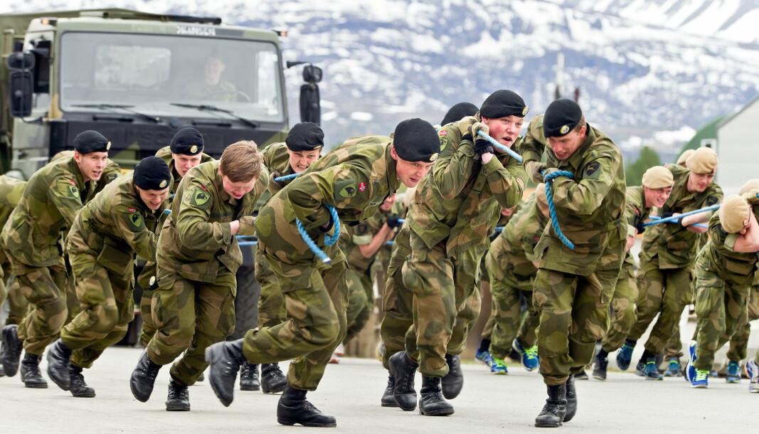 Tema for årets soldataksjon er psykisk helse. Dette bildet er fra soldataksjonen 2016 på Skjold.