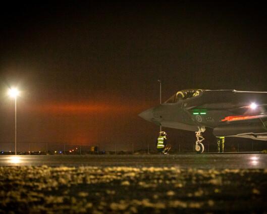 Vulkanutbrudd på Island hvor norske F-35 er stasjonert