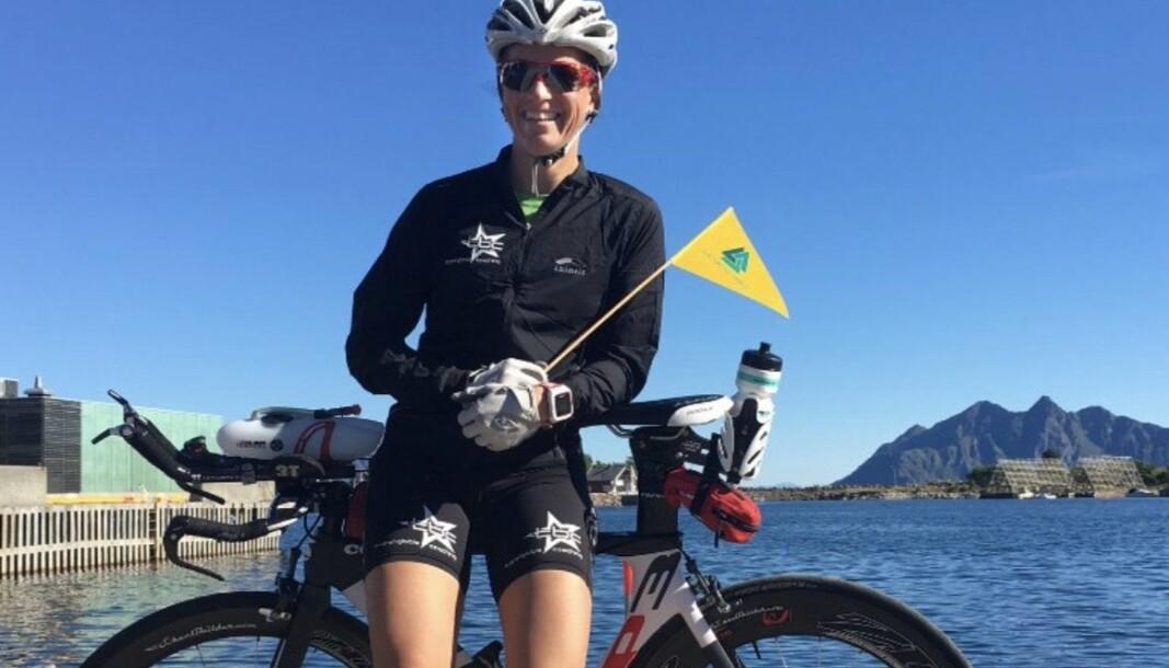 SEIG: Oberstløytnant Nina-Sofie Berg har lært seg å like lange og seige løp. Her avbildet i Svolvær etter at hun gjennomførte extreme-varianten av The Artic Triple i 2016