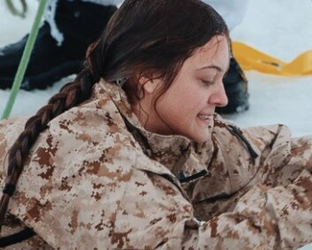 From the Arizona desert to the icy waters of Norway: US Marine Kayla has developed a taste for waffles with brown cheese