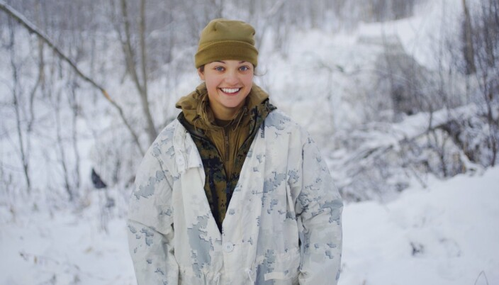 ABOVE THE ARCTIC CIRCLE: 2nd Lt. Kayla L. Olsen from the US Marines, currently in Northern Norway.