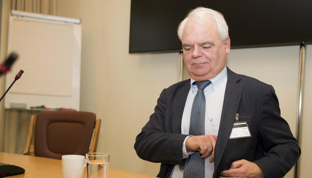 Svein Grønnern (avbildet) leder EOS-utvalget og leverte onsdag årsmeldingen for 2020 til stortingspresident Tone Wilhelmsen Trøen.