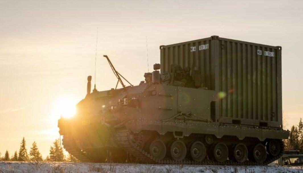 KAMPSTØTTEVOGN: Vognene skal brukes til transport, lett bergingsvogn samt plattform for kampluftvern og artillerilokaliseringsradar.