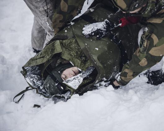 Albert lå to timer under snøen, mens Hæren øvde på snøskredredning