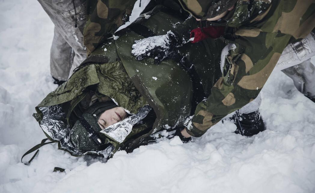 Lå to timer under snøen, mens Hæren øvde på skredredning