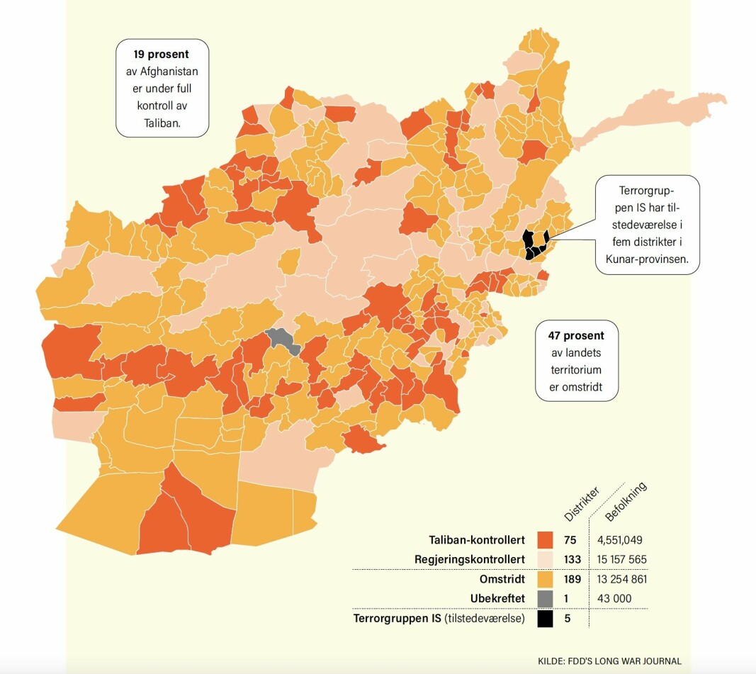 Talibans kontroll i Afghanistan: Taliban har kjempet mot den afghanske regjeringen for kontroll over landet i nærmere to tiår.
