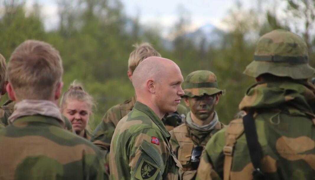 I SITT RETTE ELEMENT: Major Eirik Skomedal tenker at han som talsperson bør gjenspeile Hæren.