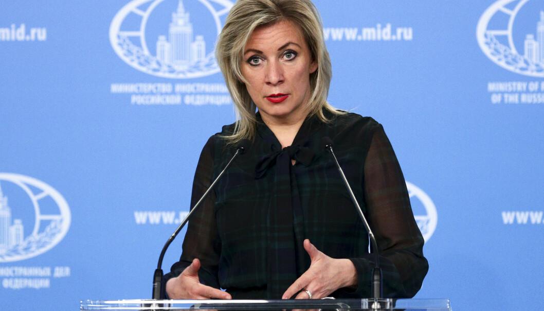 REAGERER: Maria Zakharova, talskvinne for russisk UD.