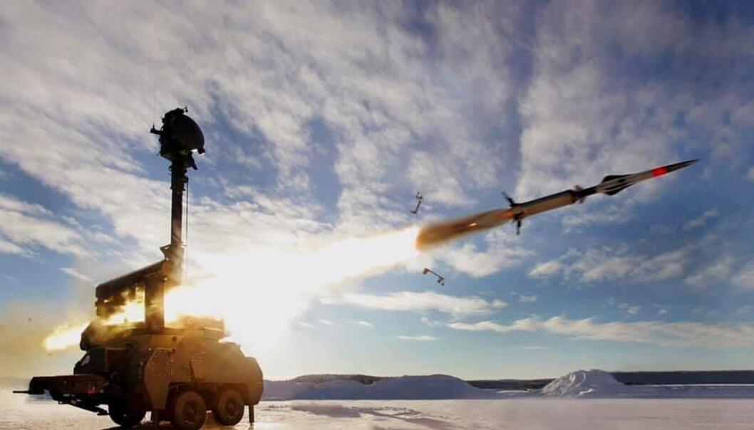 HENTES FRA LAGER: Ildenhet 23 er den delen i Robotsystem 23 som avfyrer luftvernmissilet.