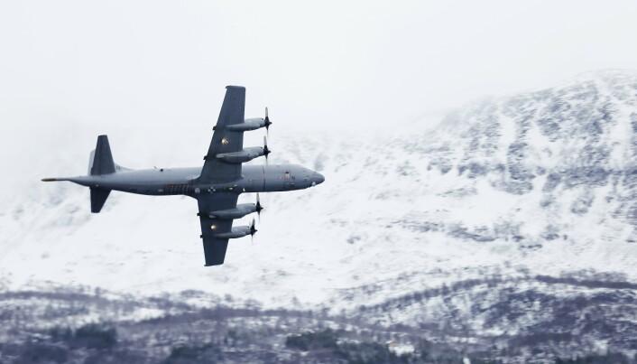 De maritime patruljeflyene P-3C Orion overvåker norske interesseområder i nord. Her ser vi et Orion fly fra 333 skvadronen under vinterøvelsen Cold Response 2014
