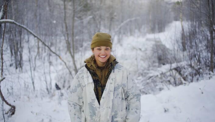 OVER POLARSIRKELEN: Kayla L. Olsen fra US Marine Corps, for tiden stasjonert i Nord-Norge.