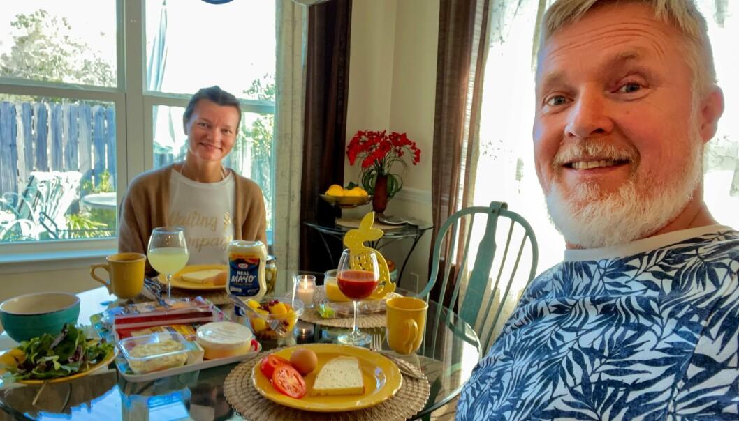 Rune Øverås og kona Berit er i innreisekarantene i USA i påsken. Nå venter snart starten på utdanningen på P-8.