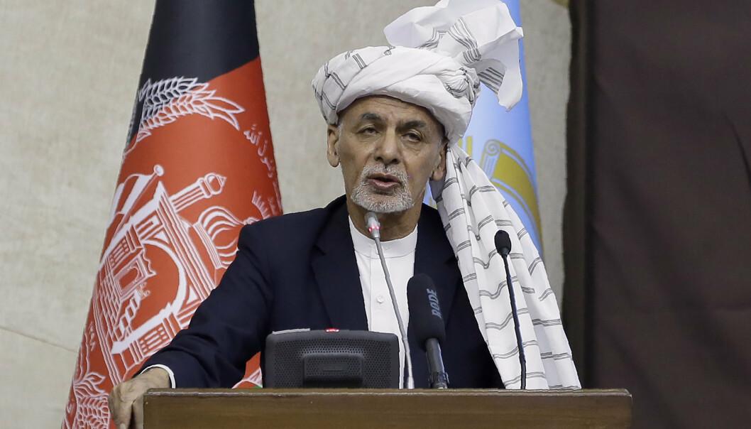 FREDSØNSKE: President Ashraf Ghani ønsker fred med Taliban.
