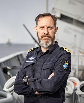 Kommandørkaptein Lars Tollef Larsson, skipssjef på KNM Thor Heyerdahl.