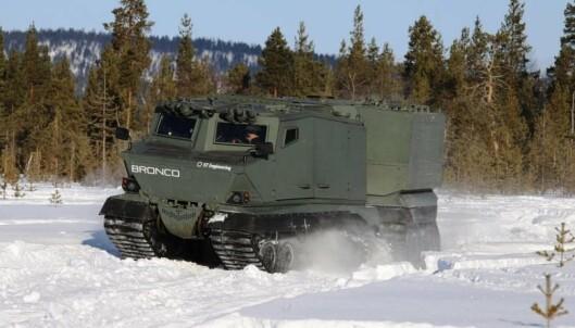 BRONCO 3: Oshkosh Defense og ST Engineering deltar i konkurransen med et kjøretøy kalt Bronco 3.