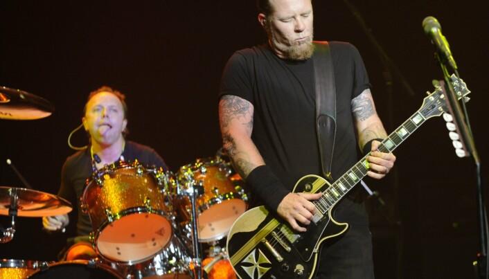 FAVORITTER: Lars Ulrich og James Hetfield i Metallica, et av artikkelforfatterens favorittband.