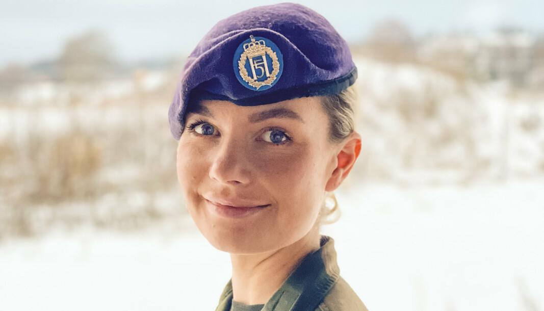TANNPUSS = VELFERD: – Har aldri skjønt meg på de som velger å ikke pusse tenner på øvelse, sier Amanda Bergh Schjelderup.